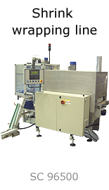 Shrink wrapping line
